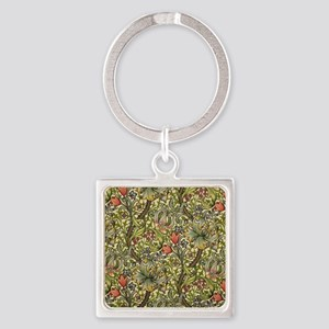 Morris Golden Lily Square Keychain