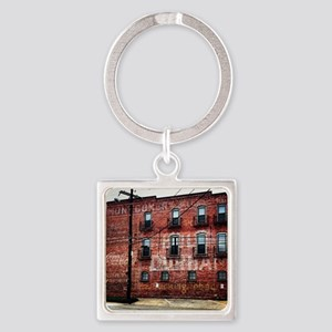Coca-Cola Ghost Sign Square Keychain