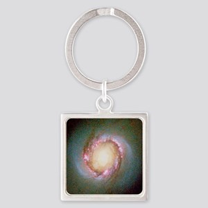 Star birth in galaxy NGC 4314 - Square Keychain