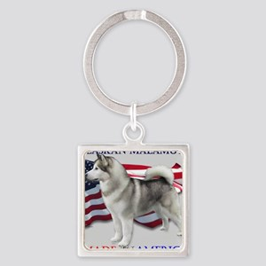 Made in America Square Keychain