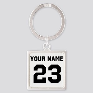 Customize sports jersey number Square Keychain
