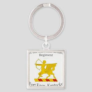 1st Bn 6th FA Square Keychain
