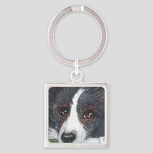 Thoughtful Border Collie dog Keychains