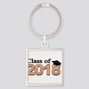 Class of 2018 Glitter Keychains