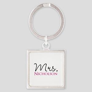 Customizable Name Mrs Square Keychain