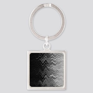 Abstract Wave Ombre Design Keychains