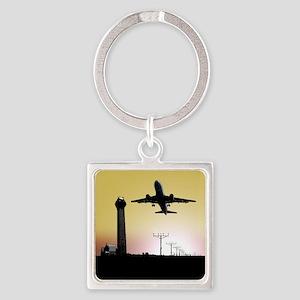 ATC: Air Traffic Control Tower & Plane Keychains