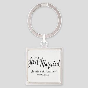 Just Married custom wedding Keychains