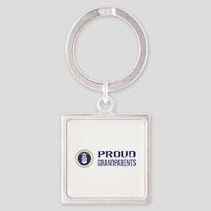 USAF: Proud Grandparents Square Keychain