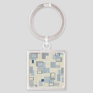 Makanahele Mid Century Modern Square Keychain