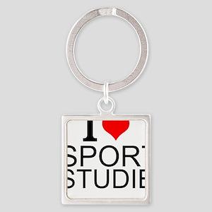 I Love Sports Studies Keychains