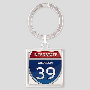 Interstate 39 Keychains
