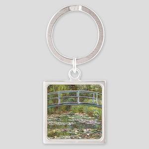 Monet Bridge over Water Lilies Keychains