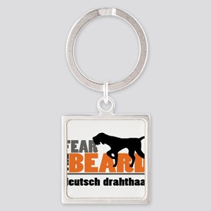 Fear the Beard - Deutsch Drahthaar Square Keychain