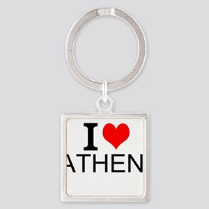 I Love Athens Keychains