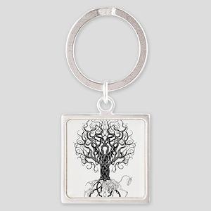 Celtic Tree Horse Keychains