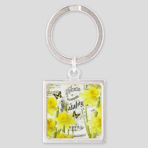 Vintage daffodils Keychains