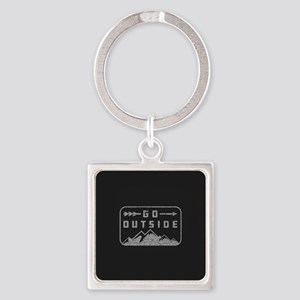 Go Outside Square Keychain