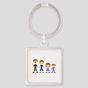 STICK FIGURE FAMILY Keychains