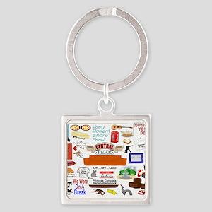 Friends TV Show Collage Keychains