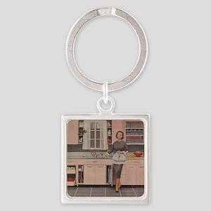 pinkkitch Square Keychain