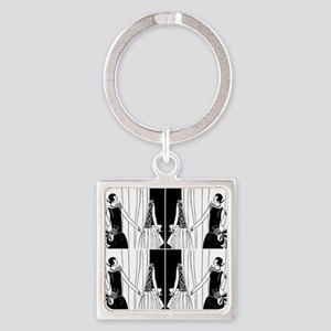 1920s flapper 2 Square Keychain