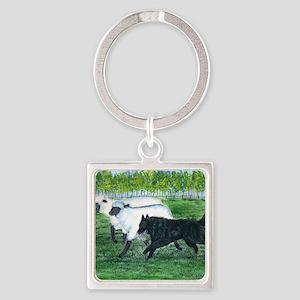bel shep herd Square Keychain