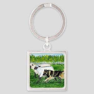 bel terv herd Square Keychain