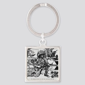 Small Lightfighter Poster Square Keychain