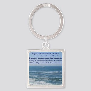 POWER OF THE MOMENT POEM Square Keychain