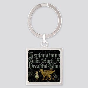 alice-explanations_9x12 Square Keychain