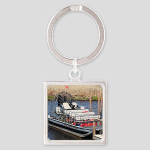 Florida swamp airboat Keychains