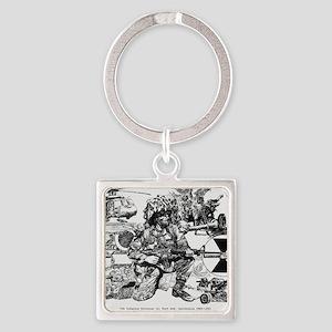 mini poster print Square Keychain