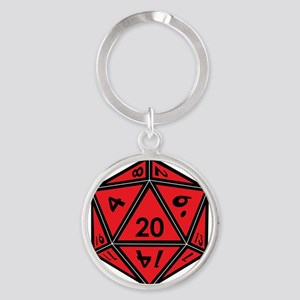 D20 Red Keychains