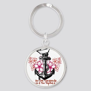 Our Love Transcends Round Keychain