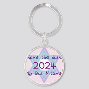 save_the_date_2024 Round Keychain
