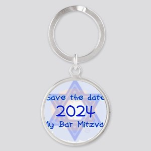 save_the_date_2024_bar Round Keychain