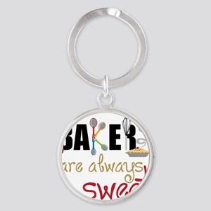 Bakers Are Always Sweet Round Keychain