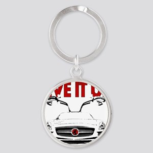 SLS AMG Supercar LIVE IT UP Round Keychain