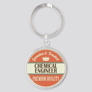 chemical engineer vintage logo Round Keychain