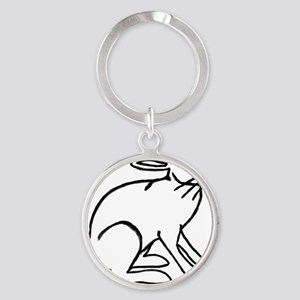 Haas you a Hare? Round Keychain