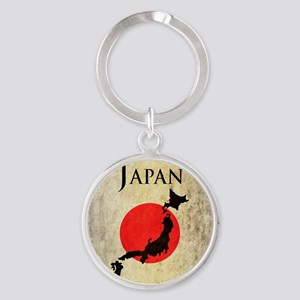 Map Of Japan Round Keychain