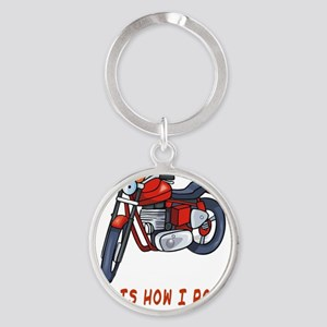 This Is How I Roll Dad Flat Round Keychain