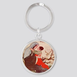 Mary, Mother of God Round Keychain