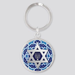 JEWISH STAR AND MENORAH Keychains