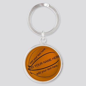 Personalized Basketball Round Keychain