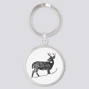 White Tailed Deer Trophy Buck Keychains