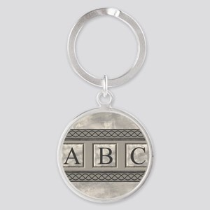 Personalizable Marble Monogram Keychains