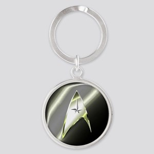 Black Silver Star Trek Keychains