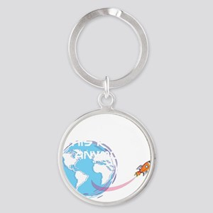 i dont want to live on this planet Round Keychain